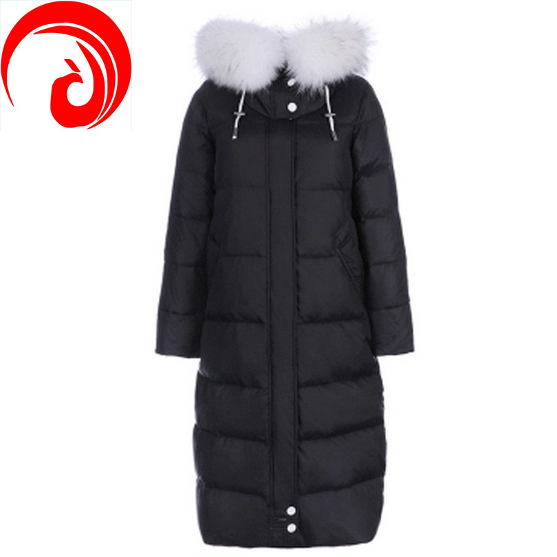 Фотография The new Cold of minus 40 degrees 2016 models extended knee parka Nagymaros collar thick warm down jacket plus size S-3XL Y36