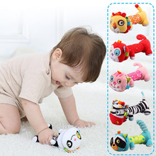 Buy Musical Baby Rattles Plush Infant Baby Toy BIBI Bar Animal Squeaker Bar Baby Toys Hand Puppet Enlightenment Plush Doll for $4.54 in AliExpress store