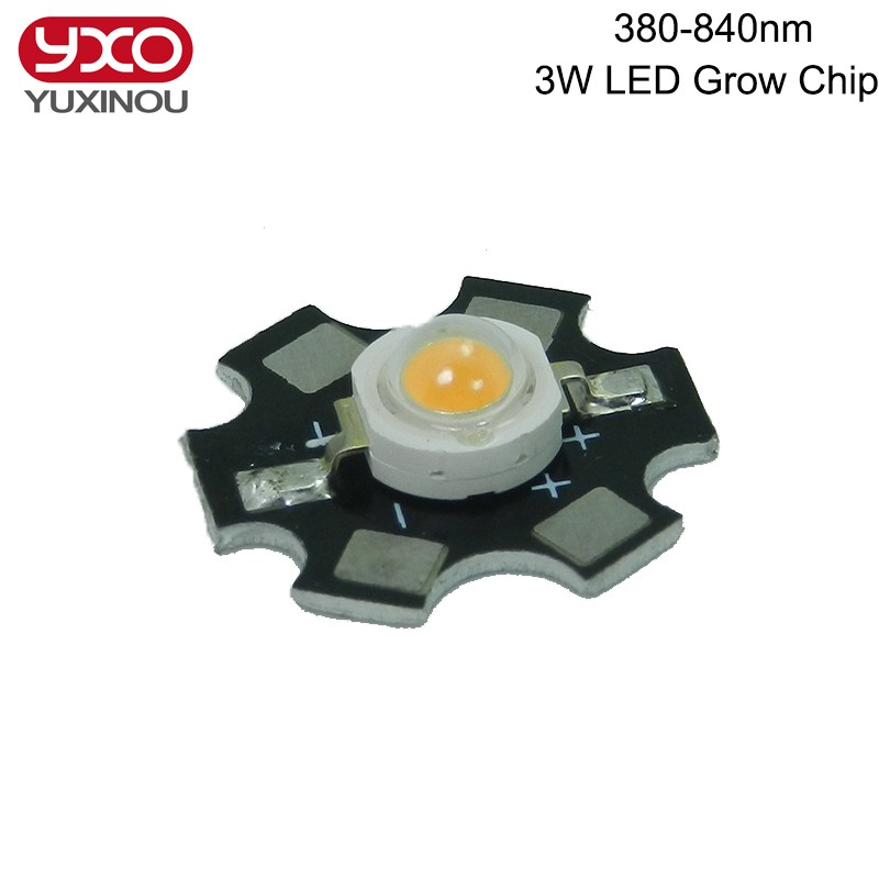 3W bridgelux full spectrum led grow chip broad spectrum 400nm-840nm led diode vegetable growing light<br><br>Aliexpress