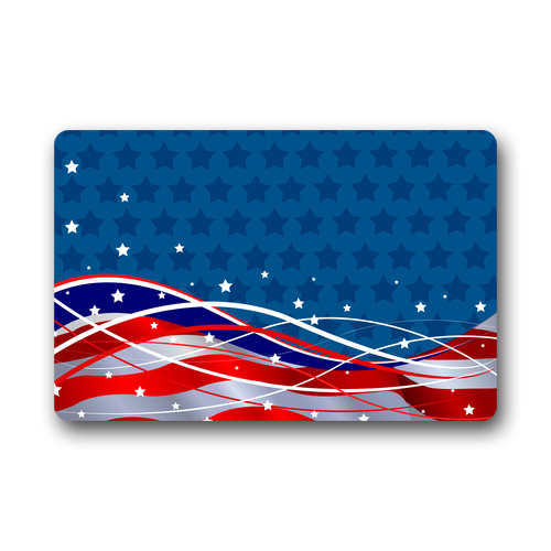 Simple and Fashion Design Patriotic Background The Stars and the Stripes Vogue Picture Printed Doormat(China (Mainland))