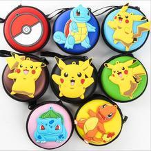 Wholesale 50pcs/lots tsum Mickey Minnie poke mon go cartoon egg yolk Jun data cable headset bag storage box purse PU Small Bag(China (Mainland))
