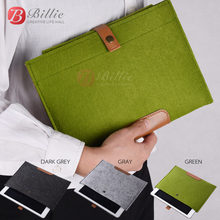 New Wool Felt For iPhone 6 iPad 5 liner sleeve, high quality Notebook case For iPad air 5/6 Laptop leather&woolfelt Handy Bag
