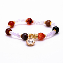 National Style New Design Crystal Natural Stone Elastic Charm Bracelet for Women Men Jewelry Wristband JR10026 free shipping(China (Mainland))