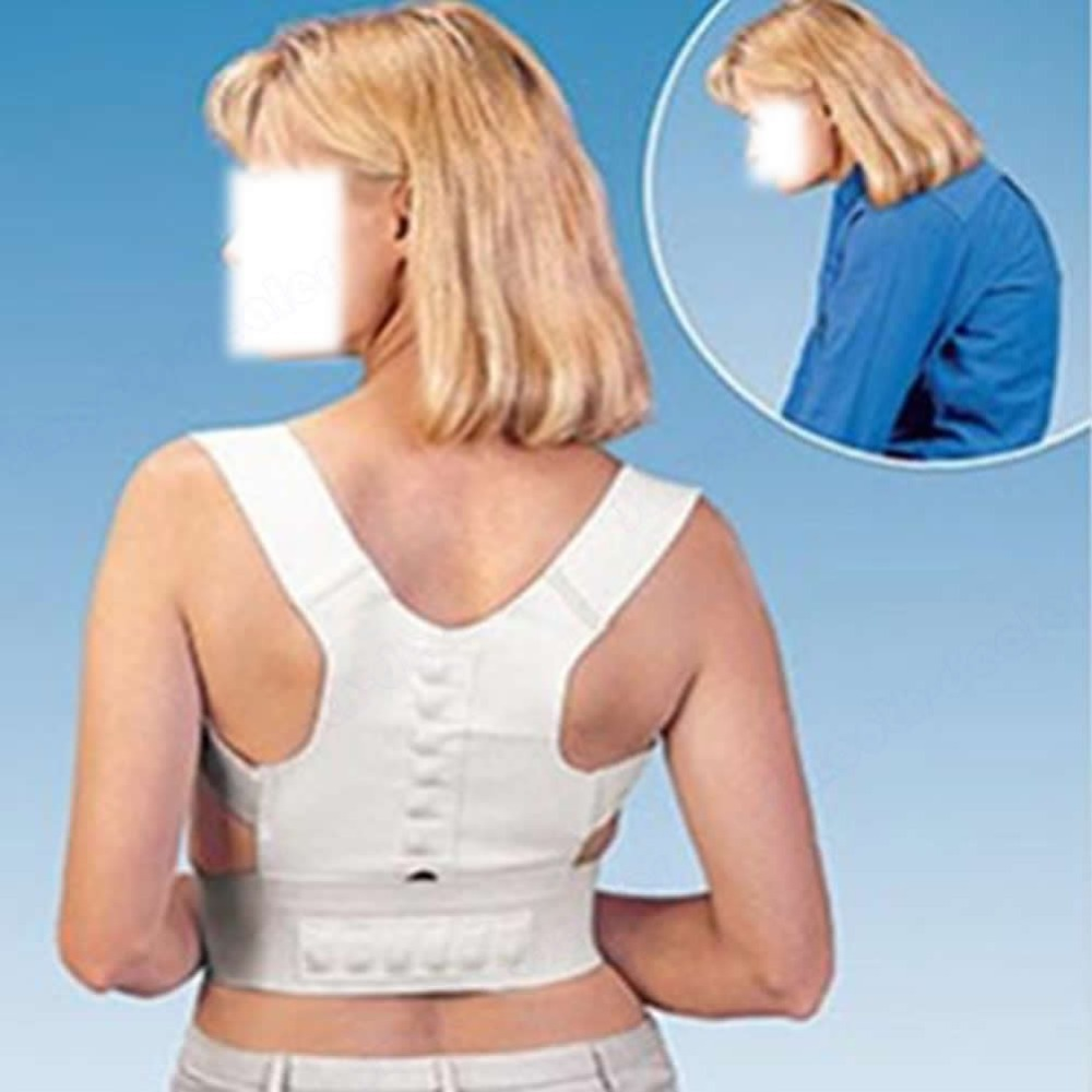 Free Shipping New Magnetic Posture Corrector Support Back Pain Feel Young Brace Shoulder Belt(China (Mainland))