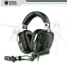 SADES A90 Professional Gaming Headset Breathing Light, HIFI Heavy Bass 7.1 Surround Pro Built-in Sound Card Contains a Mic(China (Mainland))