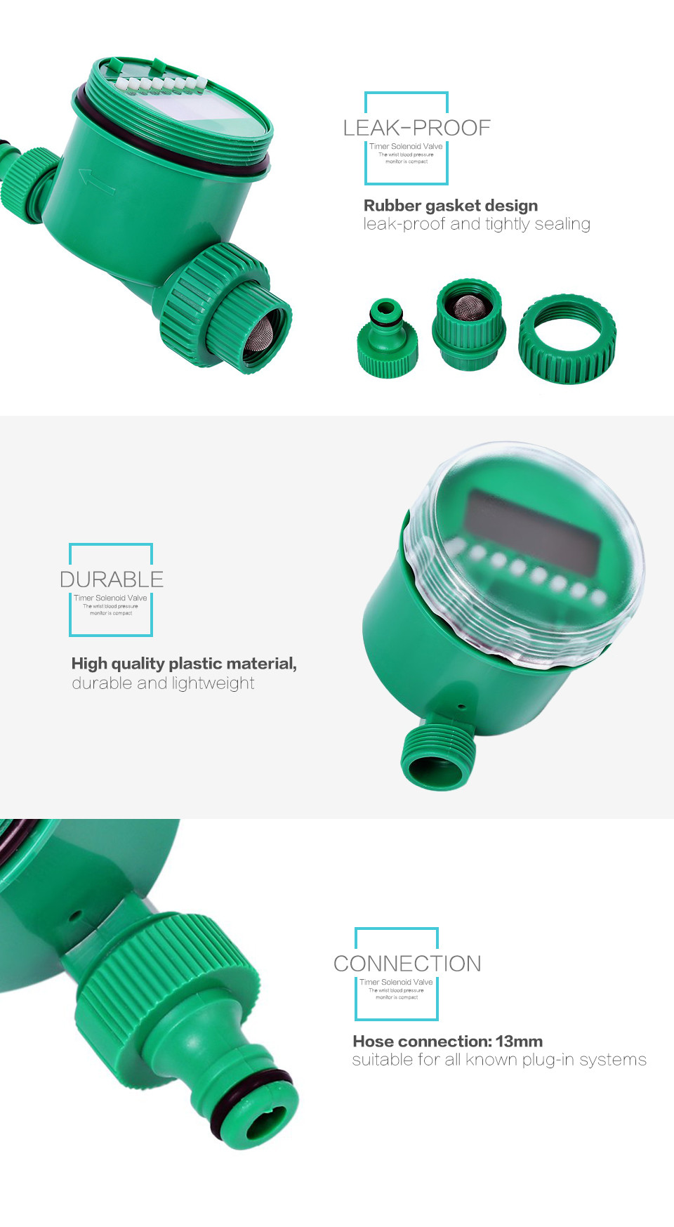 Valve Saver New Plastic Material Electronic Garden Water Timer Sink Faucet Supply Shutoff Diagram Aaa Service Plumbing Package Contents 1 X Irrigation Tap Connection Unit Nut Screw Cover Usage Instructions