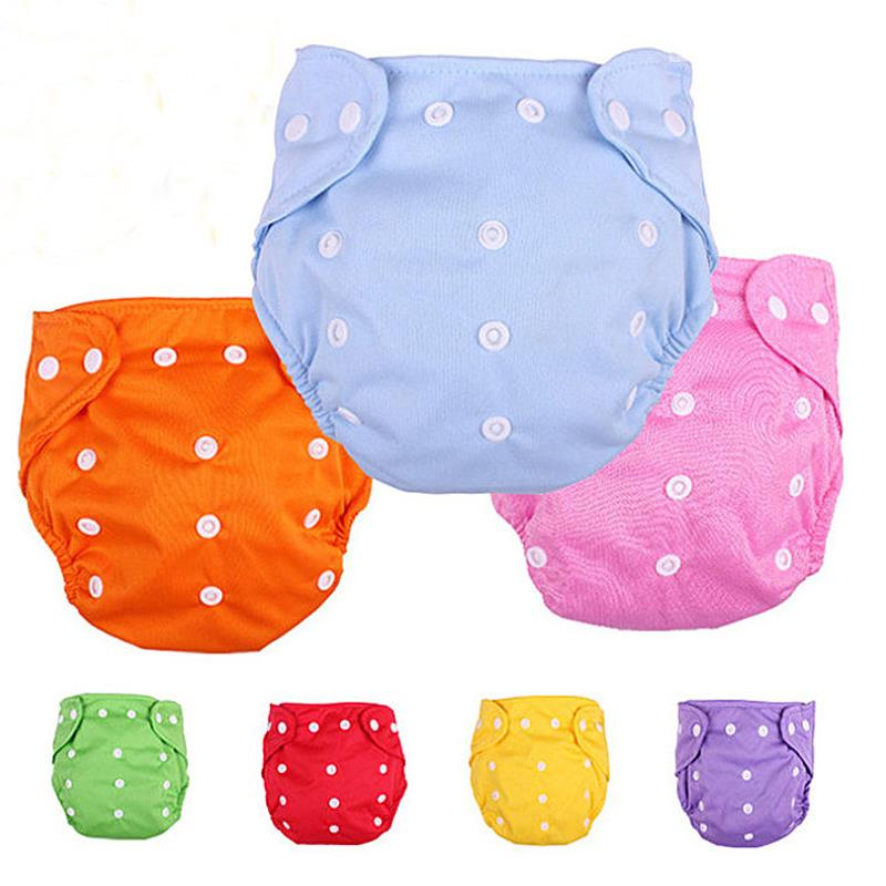 Reusable Baby Diapers Infant Nappy Cloth 100% Cotton Diapers Soft Covers Washable Adjustable Fraldas Winter Summer Version 1PCS