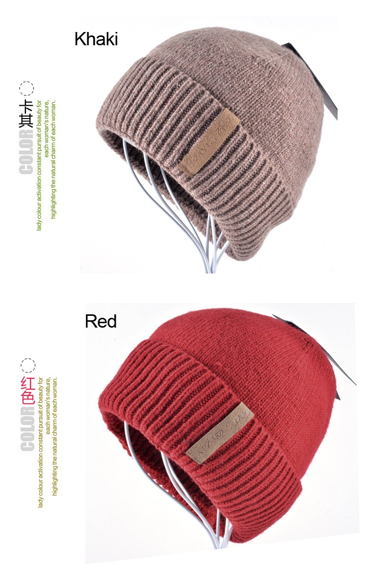 Boy winter beanie hats for men knitted wool hats male Brand warm cap men's beanies skullies bone peas set of head cap gorro