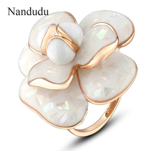Nandudu High Quality Hot Sale Blooming Flower Rings Bridal Engagement Ring for Women FLASH SALE Jewelry Gift R681(China (Mainland))