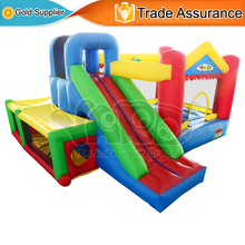 YARD Hot Sell Inflatable Toys Mini Trampoline for Kids Backyard Party Games Bouncy Castle with Slide(China (Mainland))