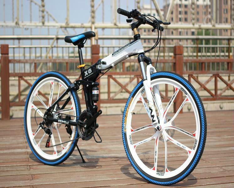 26*17 inch tyres bike tyre dirt bike folding Full suspension bicicleta mountain bike 21/24/27 speed 26er Disc brakes 2(China (Mainland))