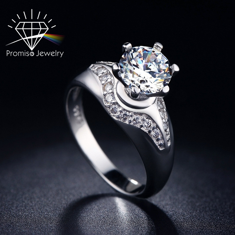 Classic style AAA CZ Diamond argent rings For Women Engagement/Wedding 925 sterling silver party fashion Jewelry(China (Mainland))