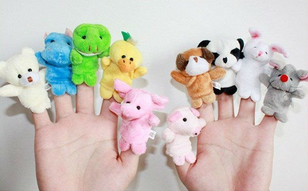 10Pcs Cartoon Animal Finger Puppet,Finger Toy,Finger Doll,Baby Dolls,Baby Toys,Animal Doll Free Shipping 80554