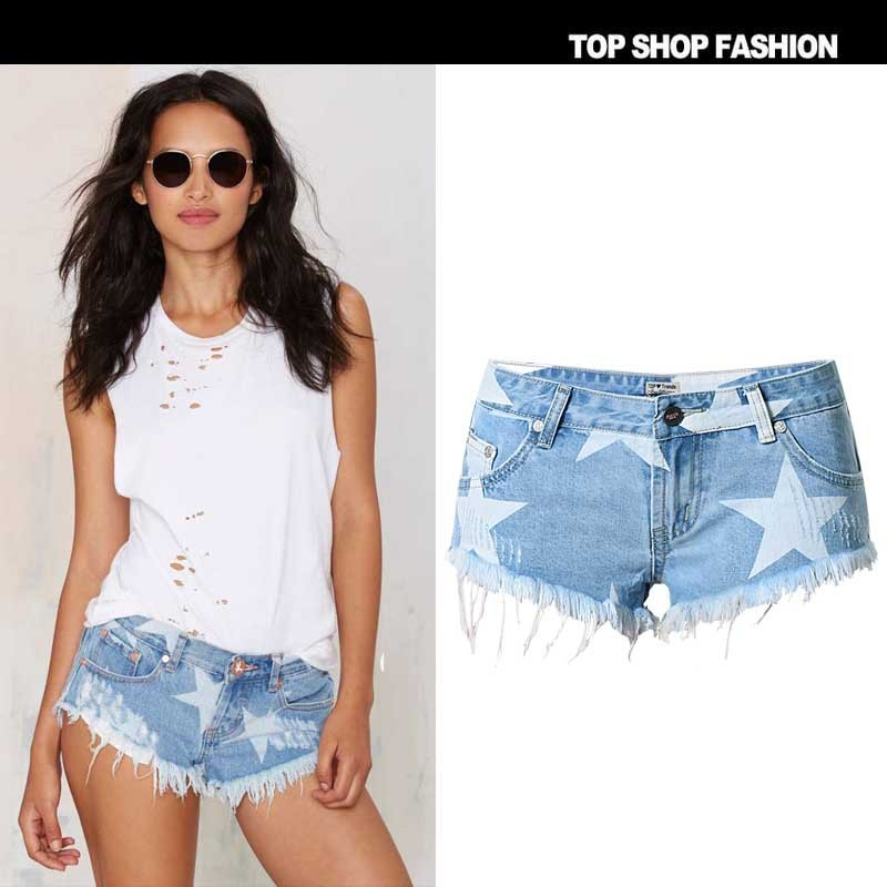 Fashion high waist Bleached Shorts Pants Shorts jeans woman Short jeans for women jeans femme Short jean pants pantalones mujer
