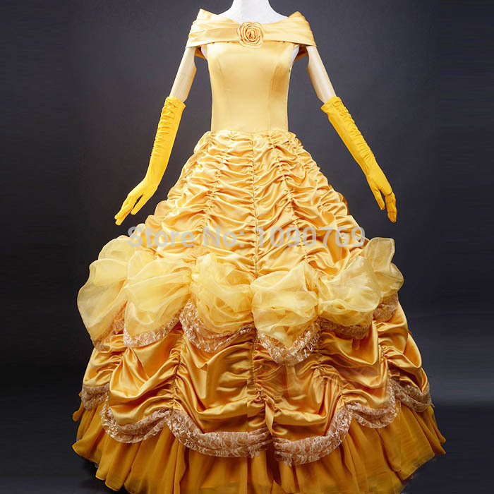fantasia 2015 hottest beauty and the beast female adult princess beautiful woman uniform Halloween costumes free shippingОдежда и ак�е��уары<br><br><br>Aliexpress