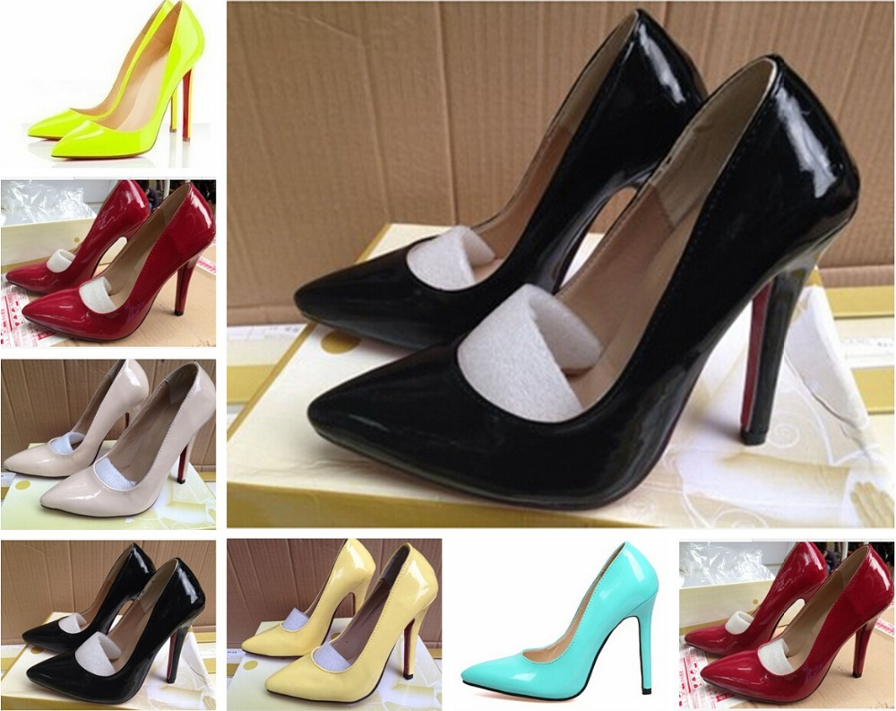 2015 Womens Red Bottom Shoes High Heels Luxury Designer Patent Leather Wedding Woman 12cm Pumps Women - hello 111 store