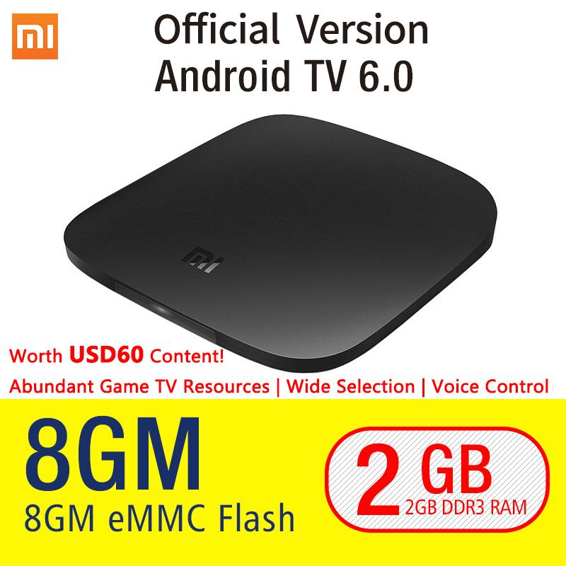 Original Xiaomi MI TV BOX 3 Android 6.0 2/8G Smart 4K Quad Core HDR Movie Set-top WIFI Google Play Netflix Red Bull Media Player(China (Mainland))