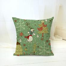 Christmas Tree Santa Claus Decorative Pillows Cushions