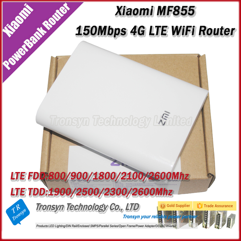 New Arrival Original 150Mbps Xiaomi 7800mAh 4G LTE Power Bank WiFi Router MF855 Support TDD And FDD Network Band<br><br>Aliexpress