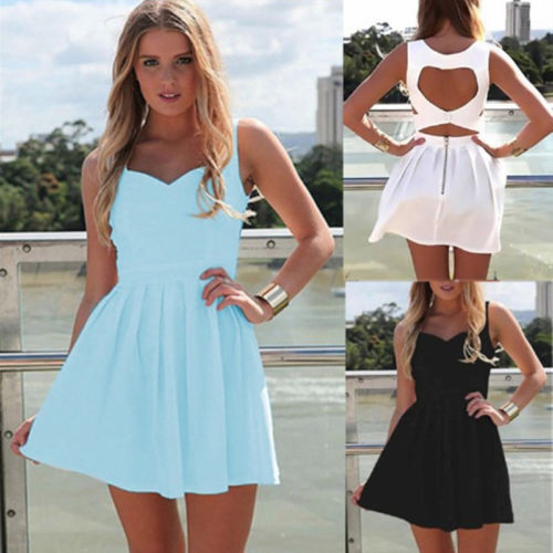 2015 New Fashion Summer Women Sexy Heart Open Cut Out Back Backless Mini Dress Party Dress Vestidos For Ladies J2658(China (Mainland))