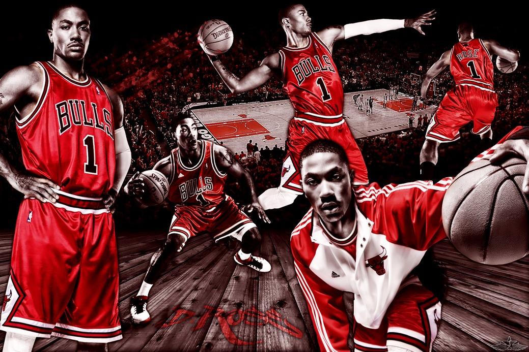 Derrick Rose Chicago Bulls NBA MVP Poster family silk wall print 36 inch x 24 inch / 20 inch x 13 inch(China (Mainland))