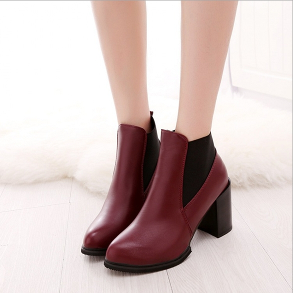 2016 NEW Spring Autumn Fashion office  Shoes Women Genuine Leather High Heels Women Ankle Boots Zapatos Mujer.Free Shipping