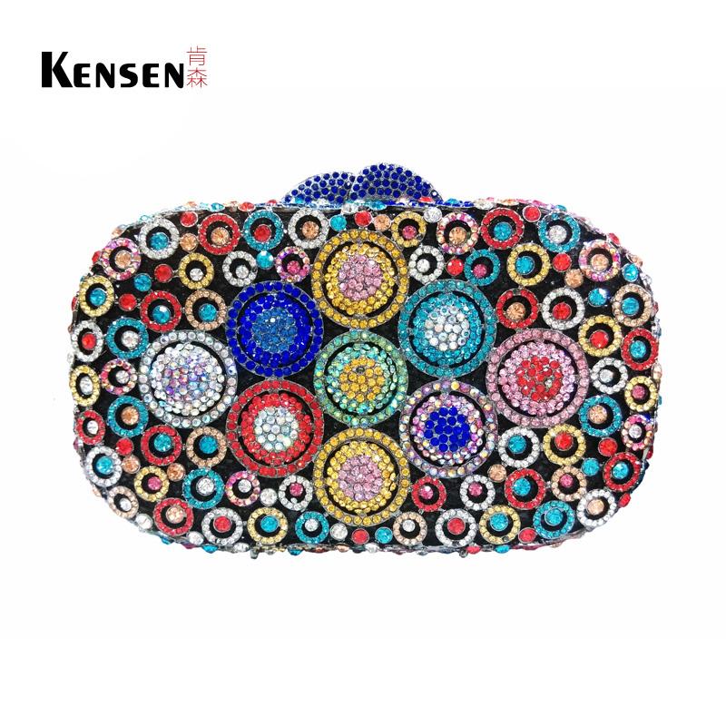 Hollow Out Metal Handbag Crystal Clutch Evening Bag Luxury Handmade Box Clutch Purse S08343(China (Mainland))