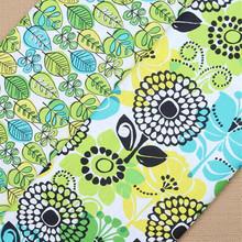 2/50*150cm VB vintage Flowers plain organic cotton fabrics sewing patchwork DIY cloth Pillow garment fabric - Mike fan store