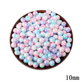 10mm Shell Mixed Color Round Beads 50pcs lot Wholesale European No Hole Beads For Kids DIY