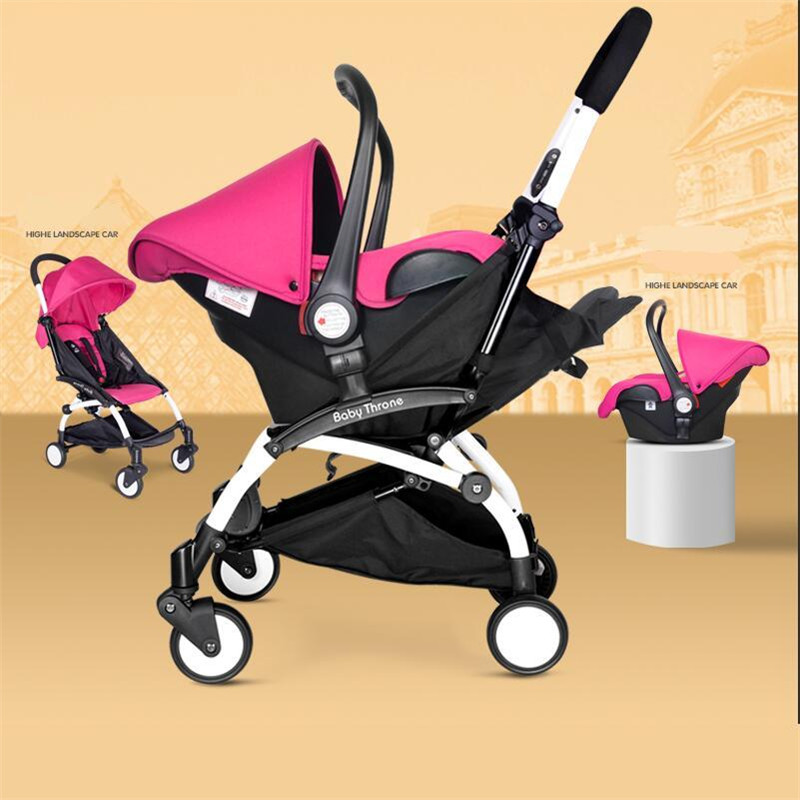 Baby Cars Seat Stroller 4 In 1 Folding Umbrella Bebe New Stroller Buggy Babies Cradle Chair Infants Car Safe Seat Lightweight(China (Mainland))