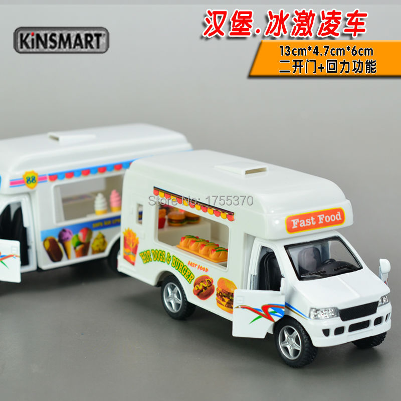 Fast Food Car Hot Dogs And Hamburg Mobile Vans Runabout Carts Alloy Model Toys As Gift For Children Kids(China (Mainland))