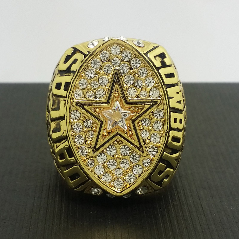 NFL 1992 Dallas Cowboys Football Super Bowl World Championship Ring 11Size 'Aikman' Fans Solid Back Gift Collection(China (Mainland))