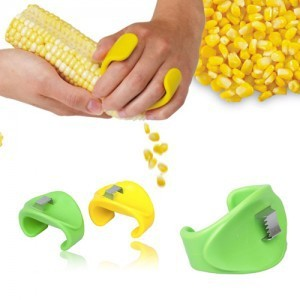 Brand New Kitchen Cooking Corn Peeler Stripper Shaver Knife Kernels Cob Remover Cutter 4pcs/lot Free Shipping Drop Shipping