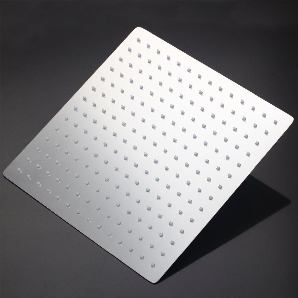 US 12 inch Shower Head Square Stainless Steel Ducha Ultra-thin Showerheads 12 inch Rainfall Shower Head Rain Shower(China (Mainland))