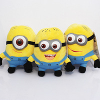 """3pcs / set Despicable ME Movie Plush Toy 7 inch """" 17cm Minion Jorge Stewart Dave NWT with tags 3D eyes"""