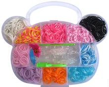envio gratis - 1000 unidades ligas de gomas para crear la pulsera , con herramienta y accesorios,Rubber Bands to create Bracelet(China (Mainland))