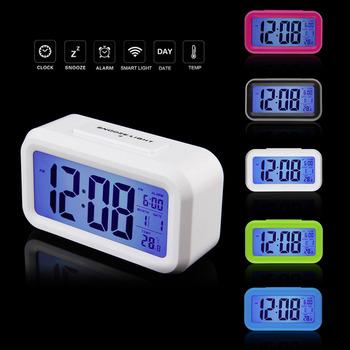 1pcs Hot LED Alarm Clock,despertador Temperature Sounds Control LED display,electronic desktop Digital table clocks Wholesale