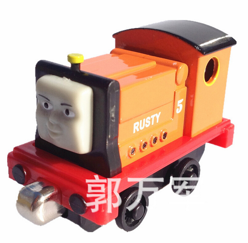Kids thomas and friends trains rusty master magnetic train Diecast pista model alloy metal models train mini collection toys boy(China (Mainland))