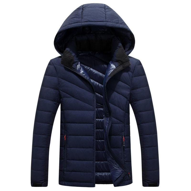 Скидки на ГОРЯЧАЯ ПРОДАЖА 2016 мужская новый зимний пуховик с капюшоном мужские Пальто Куртки мужские пальто 9085