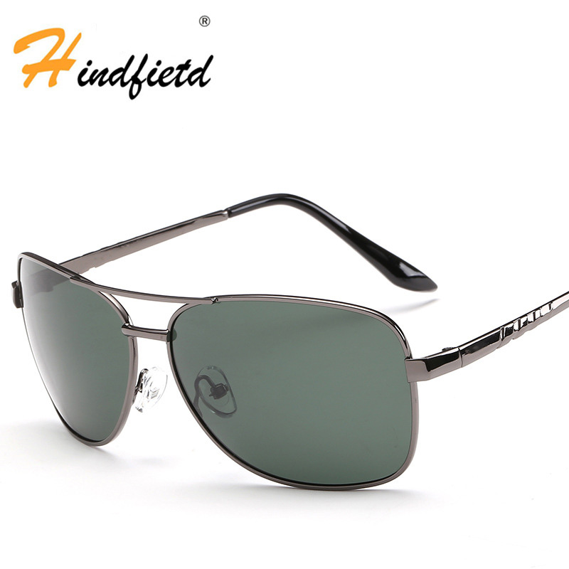 Men Profession Sunglasses Fashion HD Polarized Goggle Concise Metal Driving Glasses New Leisure Sunglasses Windproof Sunglasses(China (Mainland))