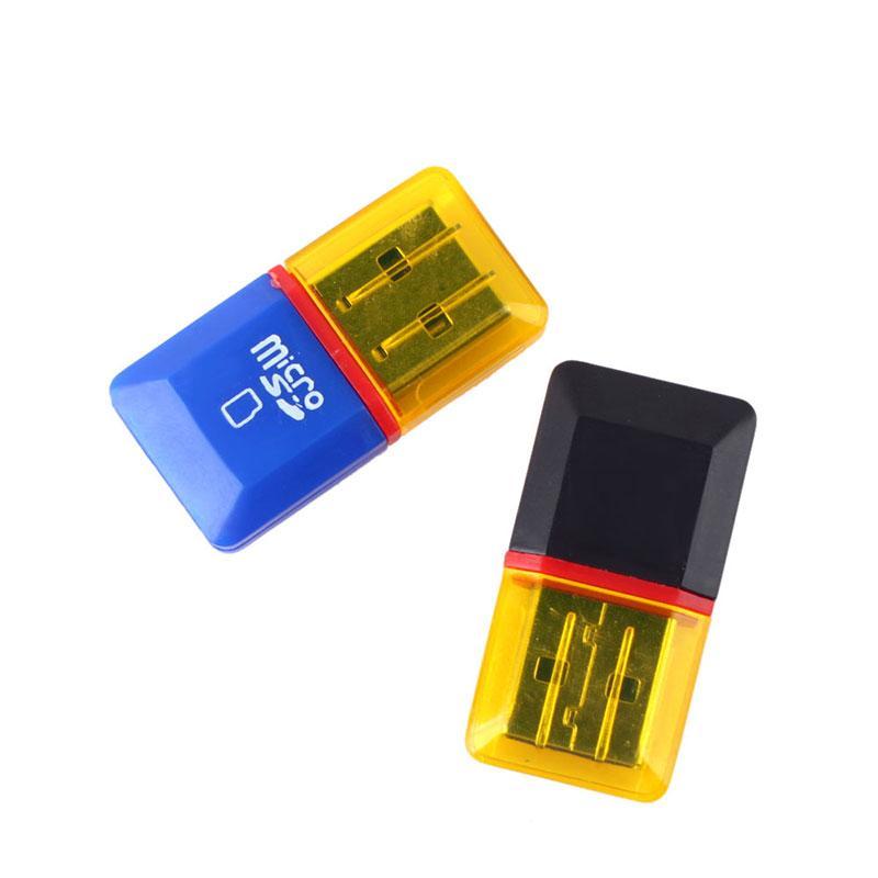 10x Slim Mini Small USB 2.0 Professional Micro SD TF T-Flash Card Reader Writer #61917(China (Mainland))