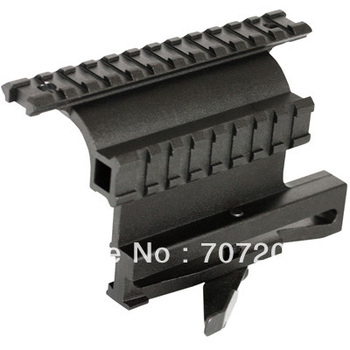 Promotion   Tactical Side Plate Double Picatinny-Style Side Rail Scope-Sight Mount for AK