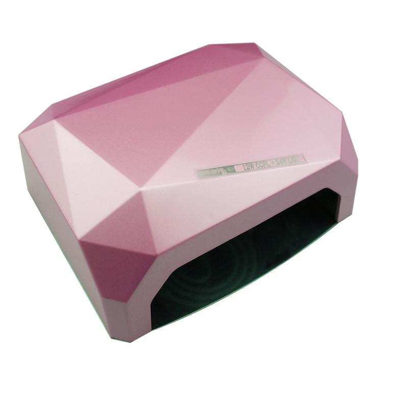 ABS 36W LED Light CCFL Nail Dryer Diamond Shaped Best Curing Nail Art Lamp Care Machine for UV Gel Nail Polish US Plug(China (Mainland))
