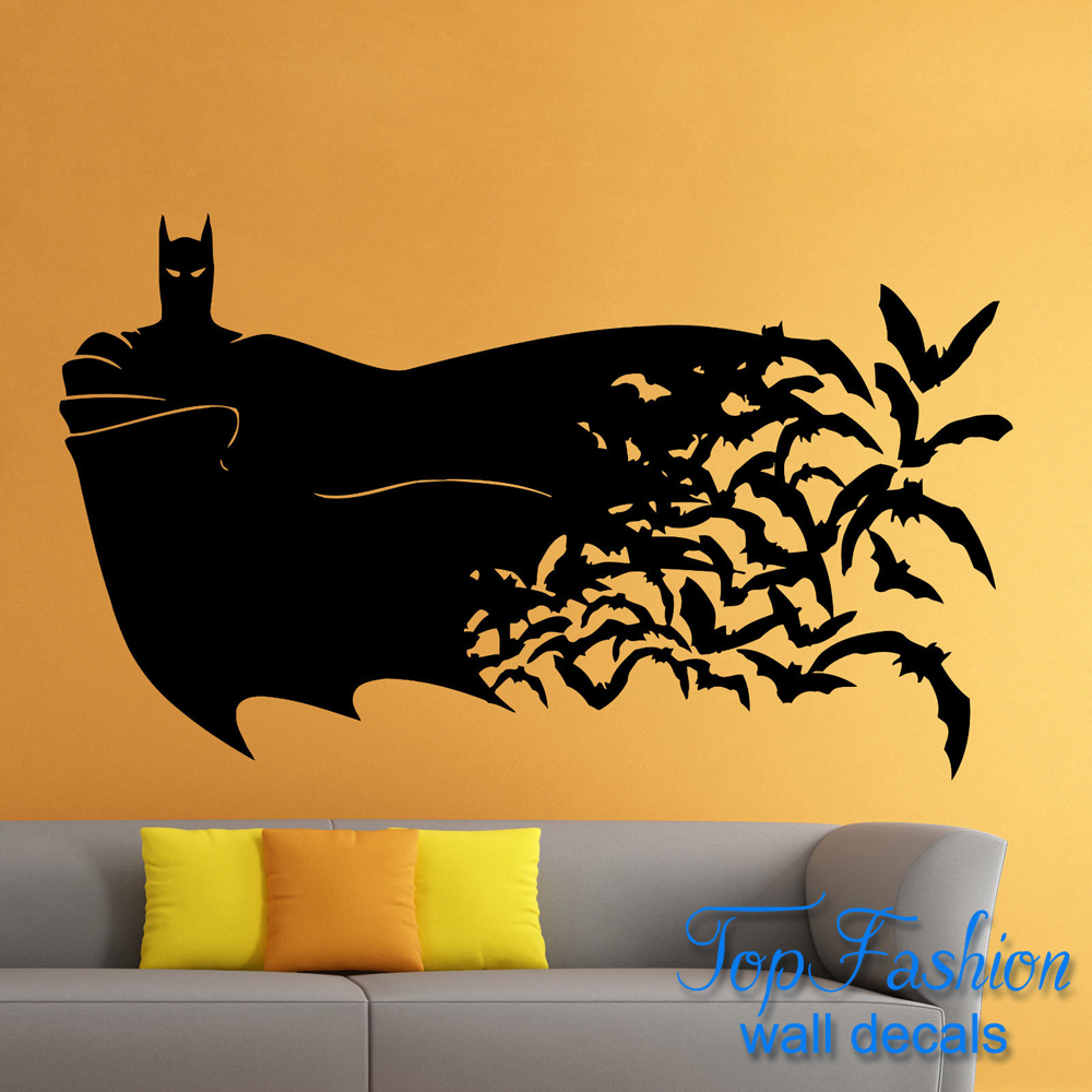 Batman wall decal batman cityscape giant wall decals for Dark knight mural