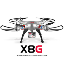Original Syma X8G 2.4G 6 Axis Gyro 4CH RC Quadrocopter Headless mode Professional Drones with 5MP Camera hd