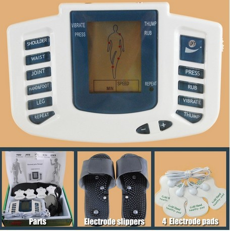 JR309 Health Care Electrical Muscle Stimulator Massageador Tens Acupuncture Therapy Machine Slimming Body Massager+ 4 Pads(China (Mainland))