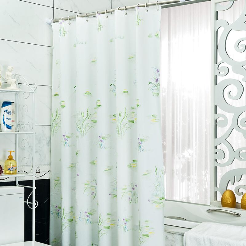 Ventilator Badkamer Stil ~ Groene Plant Douchegordijn PEVA Stof Gordijn Voor De Badkamer Moderne