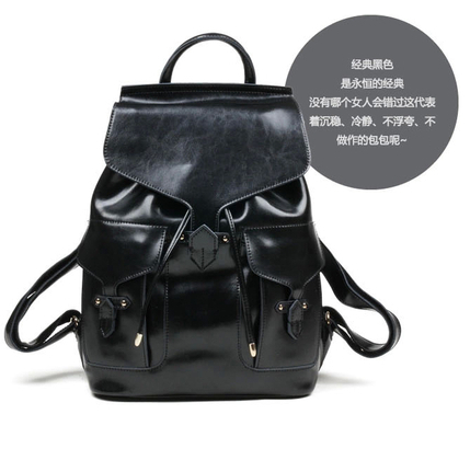 2014 New Arrival Genuine Leather  Womens Backpack Message Bag  Students School Bag Free Shipping  <br><br>Aliexpress