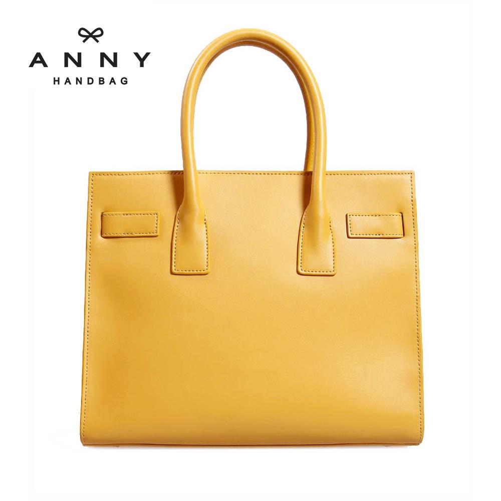 Anny 2013 women's cowhide shoulder  handbag fashion brief document bag women's briefcase