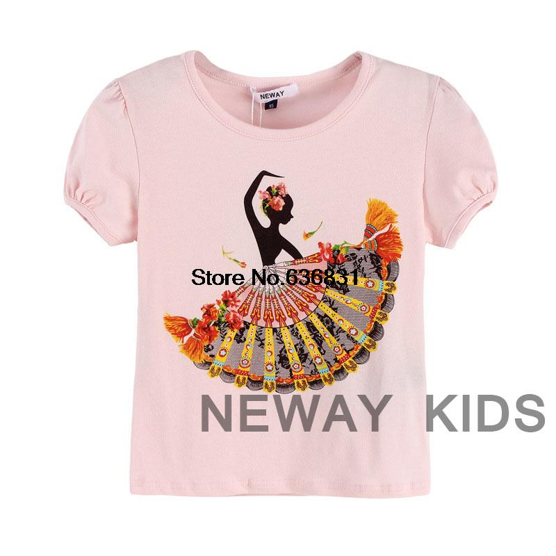 2015 summer cotton casual t-shirts baby fashion brand short-sleeved t shirt leisure tee printed toddler girl logo tops t shirt(China (Mainland))